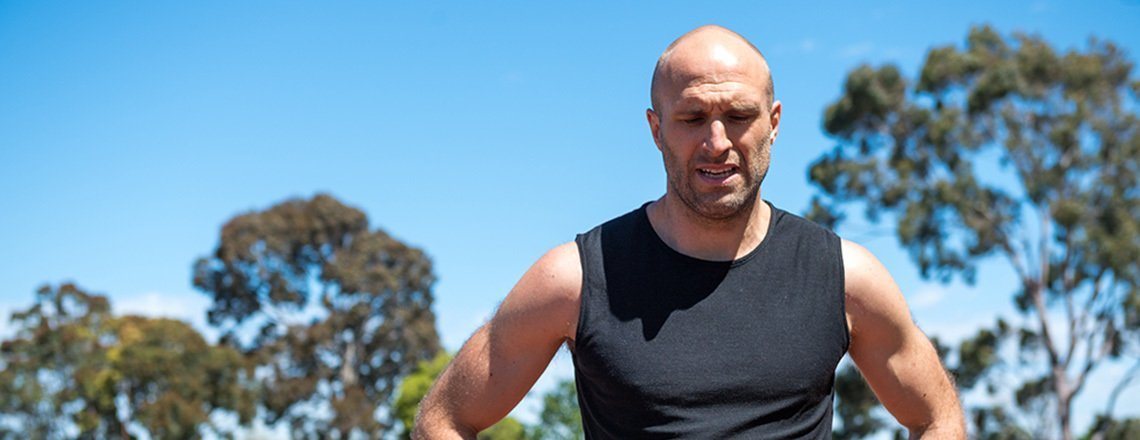 Chris Judd on discomfort as a workout tool