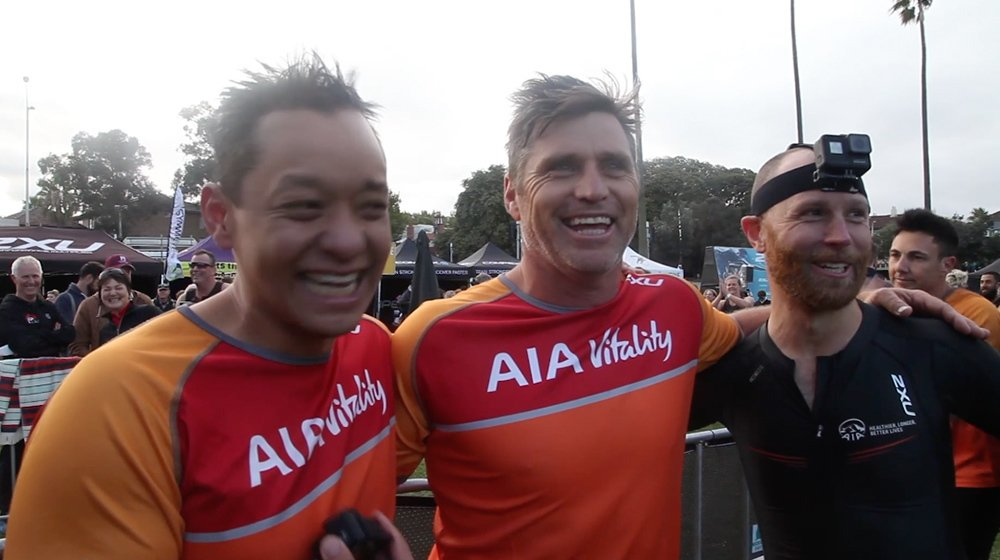 Watch: Team AIA Vitality compete in the 2XU triathlon series